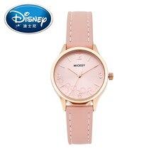 Disney Women Watch Lady Luxury Leather Watch Mickey Mouse Genuine Brand Fashion Simple Casual Quartz Wristwatches Clock Gift