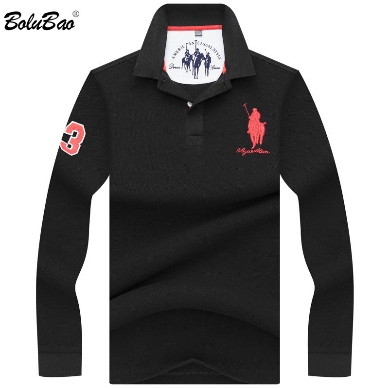 BOLUBAO Brand   Polo   Shirt Men 2019 Autumn Male Long Sleeve   Polo   Shirts Men's High Quality Breathable Clothing   Polo   Shirts