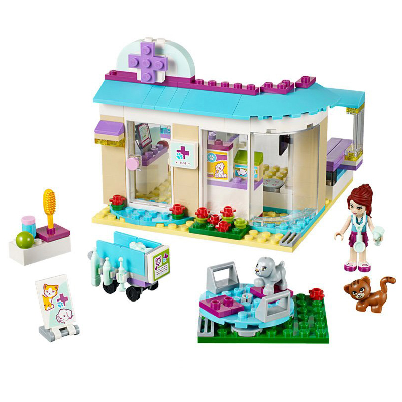 Vet Clinic Building Blocks Bricks Legoings 41085 Friends Figure Toys Girls Birthday Gift Toys Dropshipping