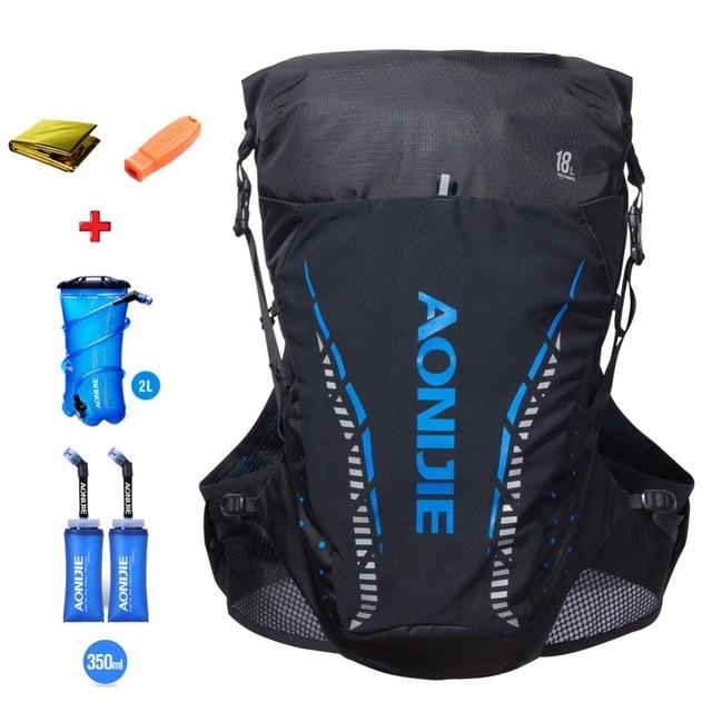 AONIJIE 18L Men Women Trail Running Hydration Backpack Hiking Racing Cycling Camping Marathon Rucksack Optional Water Bag Bottle
