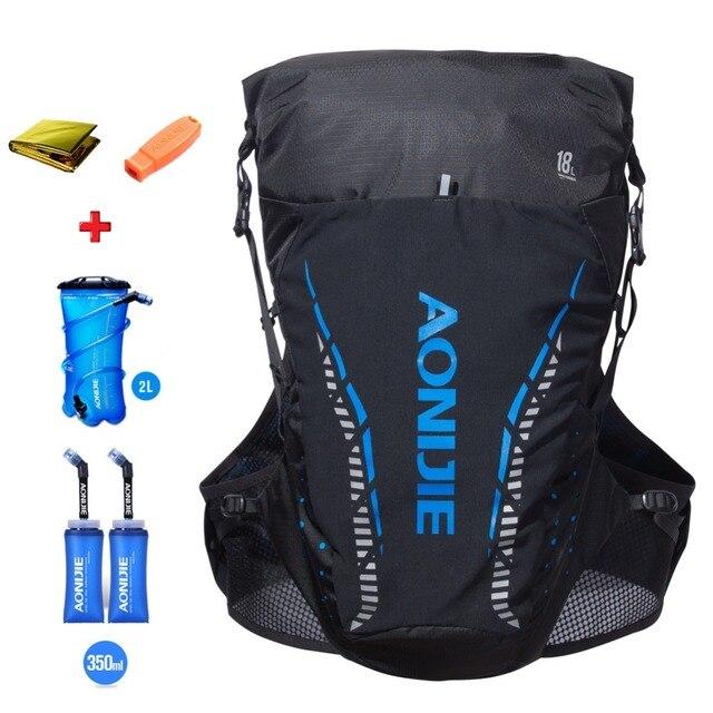 AONIJIE 18L hommes femmes Trail Running hydratation sac à dos randonnée course cyclisme Camping Marathon sac à dos en option sac à eau bouteille