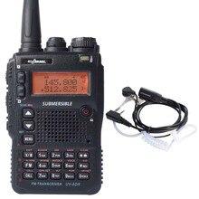 Portable Long Range Walkie Talkie UV-8DR Tri-Band 136-174/240-260/400-520mhz Handheld Ham Radio HF Transceiver CB Walky Talky