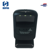 High speed image acquisition decoding 2D reader Desktop Concise barcode scanner design support color code reading