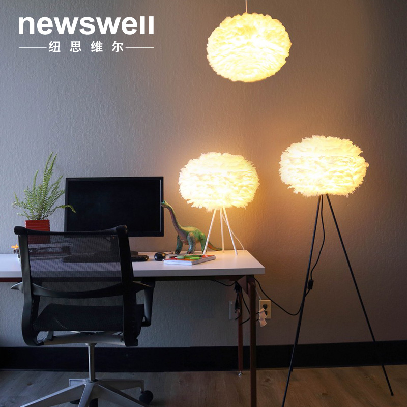 Fashion personality creative white table lamp A1 Nordic headboard lamp simple creative bedroom floor lamp ZA ZL348