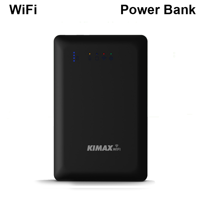 WiFi portable HDD USB3.0 port remote hard disk access 4000mah Power Bank wireless HDD management max 2TB capacity support router