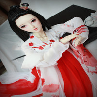 3 BJD clothes china ancient costume red color sd16 sd10 sd13 msd
