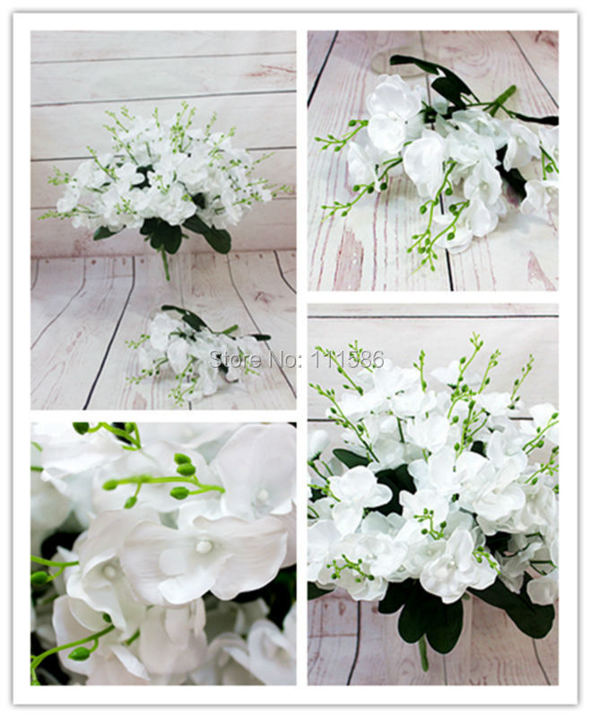 Artificial Butterfly Orchid Flower Bouquet Wedding Table