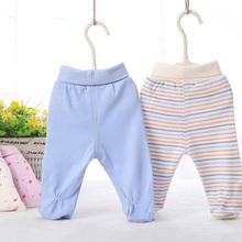 Spodnie dla niemowląt moda letnia i wiosenna 100 bawełna legginsy dla niemowląt noworodki dziewczęce spodnie chłopięce odzież dziecięca spodnie dla dzieci tanie tanio Bloom Baby COTTON Na co dzień Elastyczny pas Pasuje prawda na wymiar weź swój normalny rozmiar Pełnej długości Stałe
