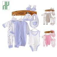HH 8 PZ vestiti Del Bambino tuta neonato vestiti del ragazzo infantile dei bambini del panno tuta nuovo nato della ragazza del bambino vestiti del bambino set