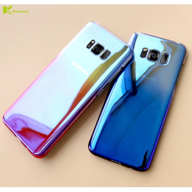 official photos 482d7 4389d US $3.95 |KL Boutiques S8 Case for Samsung Galaxy S8 Plus Cases Fashion  Gradual Change Aurora Mirror Cover for Samsung S7 S8 S7 Edge Coque-in  Fitted ...