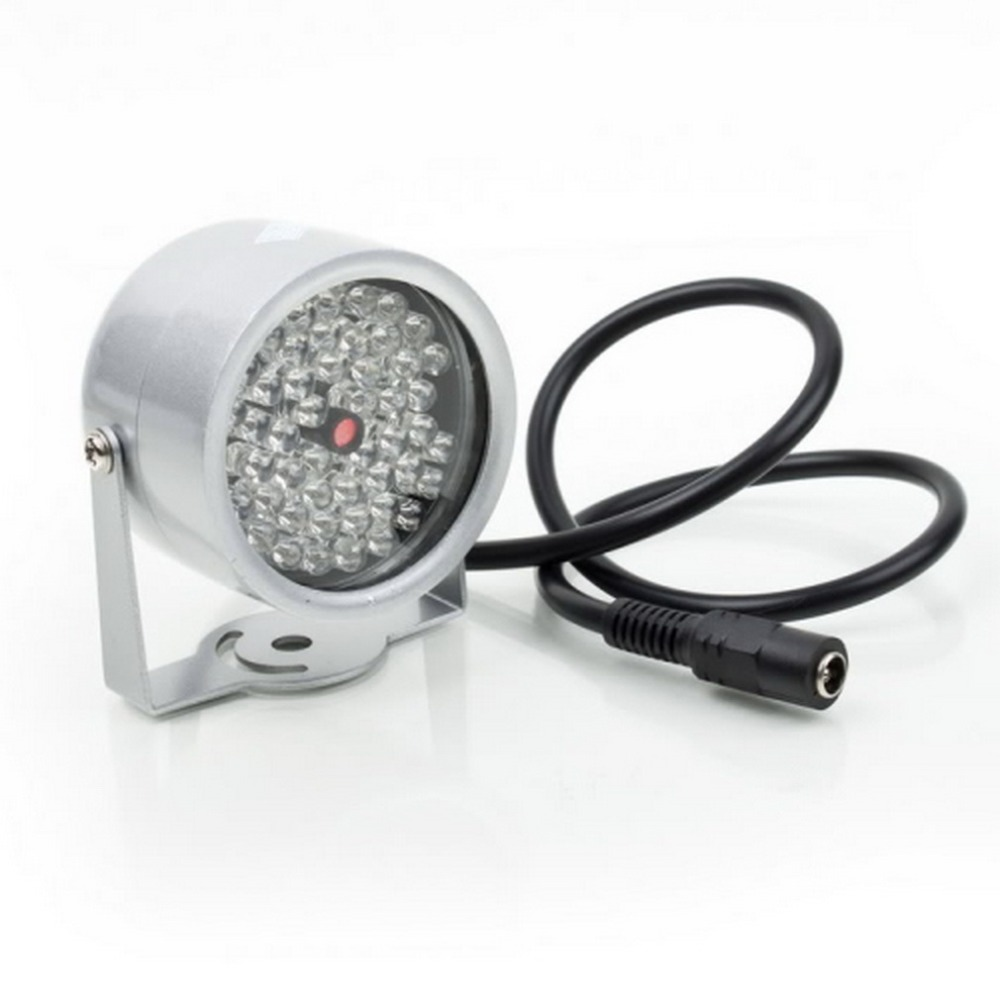 ICOCO Durable 48 LED iluminador de luz IR CCTV de la visión nocturna infrarroja de lámpara de seguridad 850nm 12 V para cámara de vigilancia