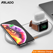 15W Qi Wireless Charger For Iphone Xsmax XR XS 3 IN 1 Fast Charger Quick Charging For Apple Watch Airpods Arlado