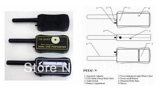 Free Shipping Hand-held metal detectors TX-2002 gold detector Hotsale  цены