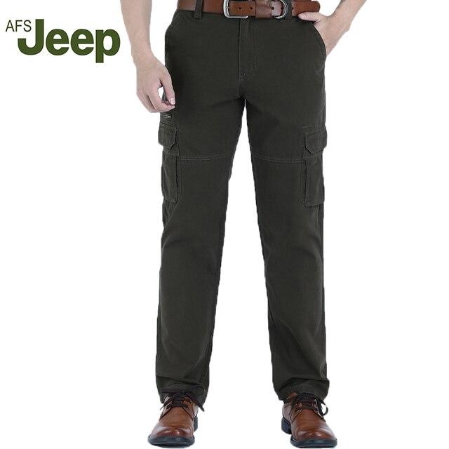 2016 новый АФН Jeep отдых бренда случайные брюки новый мужской Мульти-карман брюки 3 цветов размер 31-42 95