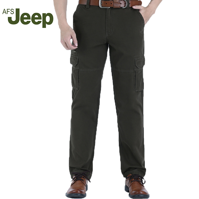 2016 The  new AFS Jeep  leisure brand casual pants the new men's Multi-pocket  pants 3 colors size 31-42 95