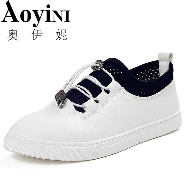 Blanco Transpirables Mocasines Qae166 Verano Mujer Zapatos Mujeres 0NOwnk8PXZ