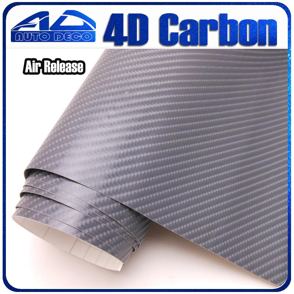 1.52*30m/рулон серый углеродного волокна винил автомобиля пленкой стайлинг автомобиля наклейка с воздушный пузырь бесплатно FedEx Бесплатная доставка