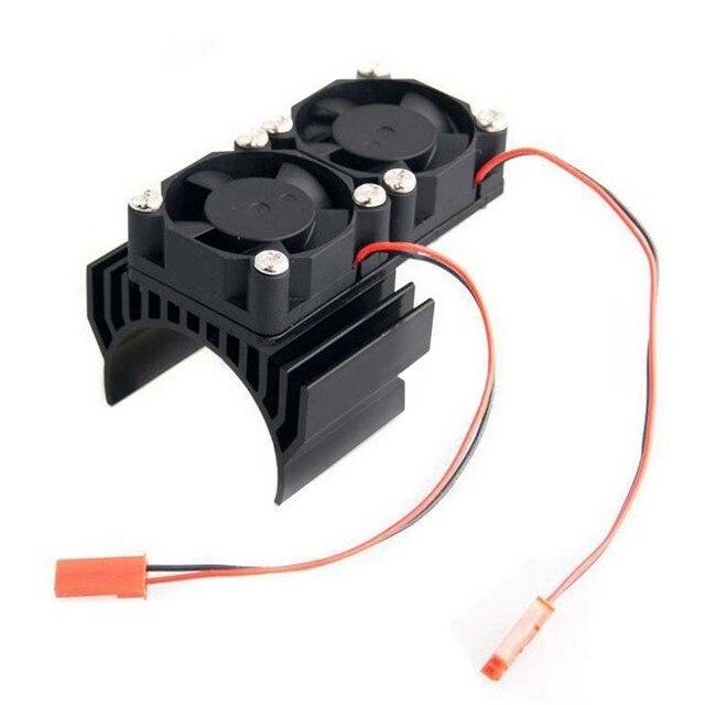 Für 540 550 3650 Motor RC Auto Kühlkörper Lüfter Radiator Cooling Fan Motor Set