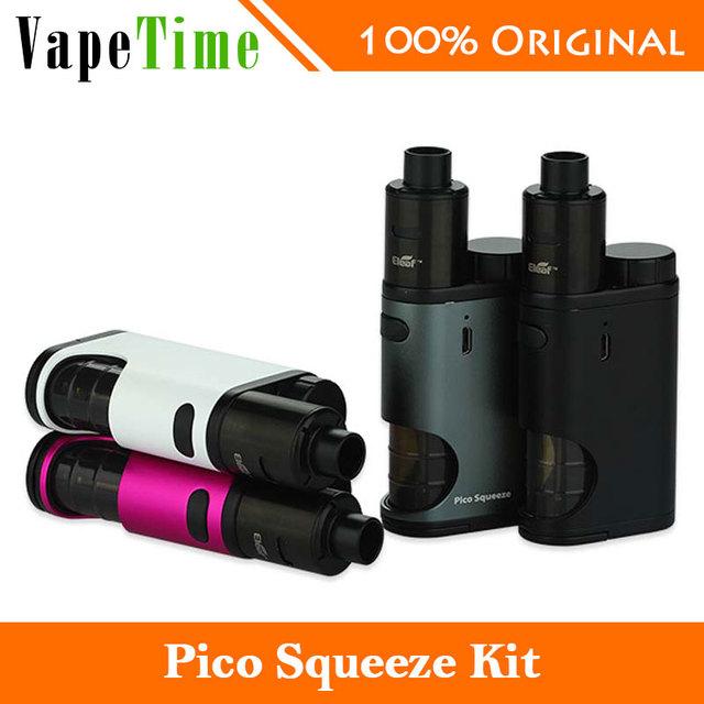 Original eleaf pico squeeze con coral vaping kit de cigarrillo electrónico 50 w pico Squeeze Box Mod y Coral Mod RDA Atomizador Vs Sólo 50 w Pico