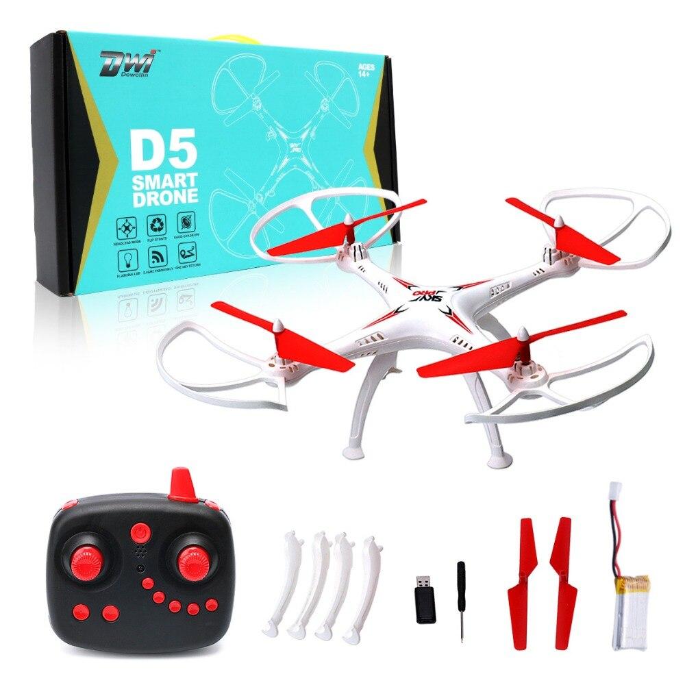 Drone RC quadrirotor professionnel pas Syma X5C télécommande quadrirotor hélicoptère RC 2.4G 4CH 6 axes Dwi Dowellin D5