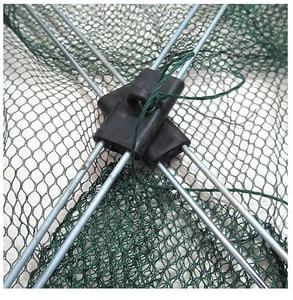 Image 5 - Nowa ulepszona wersja 4 boczne 60 100 cm, ryby, krewetki, kraby, nylon przynęty połowów netto składane łatwe do carry połowów netto