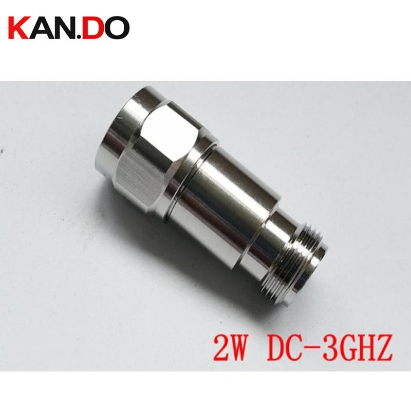 2W DC-3Ghz RF Attenuator N Male To N Female DC-3Ghz 1-30DB Option Attenuation Feeder Connector COAXIAL Jack 2W Power Attenuator