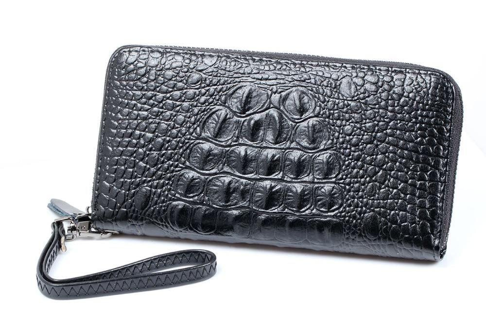 کیف چرم تمساح بلند تمساح الگوی تمساح - کیف پول