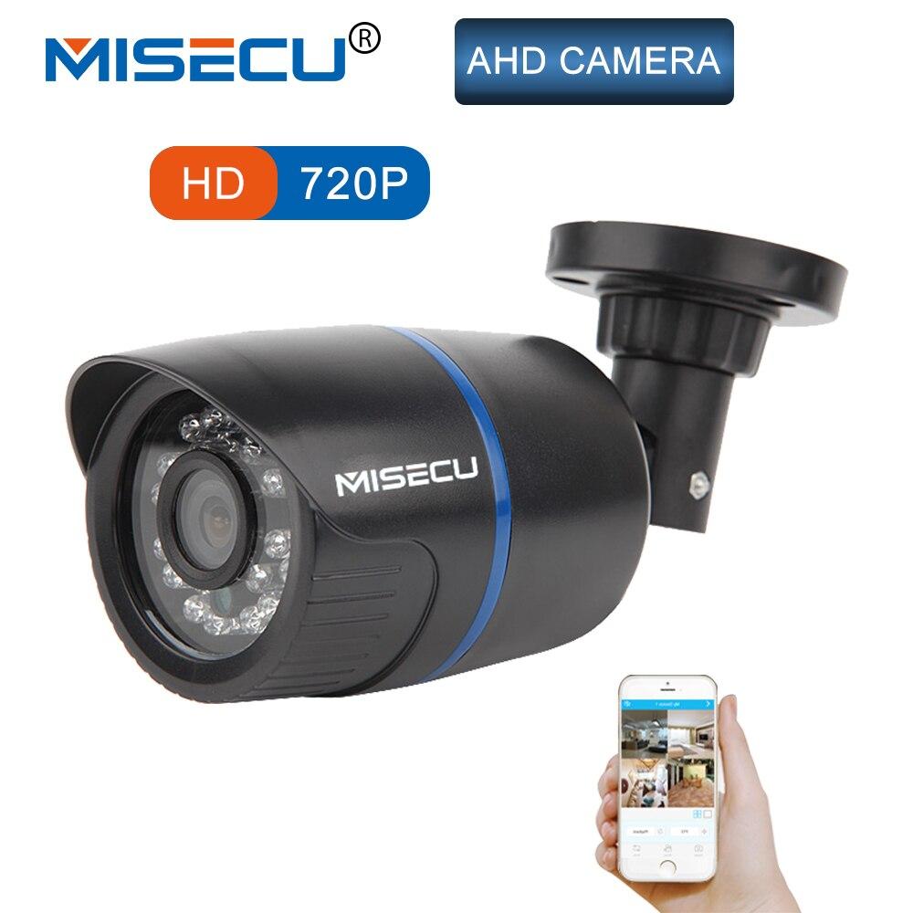 MISECU AHD Caméra 720 p 1MP Puce Bullet étanche de vision nocturne IR cut filtre 1/4 ABS Logement CCTV serveillance la maison libèrent le bateau