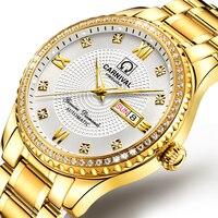 카니발 시계 남자 자동 기계 브랜드 럭셔리 남자 시계 빛나는 사파이어 reloj hombre 방수 남자 시계 C-8629-5