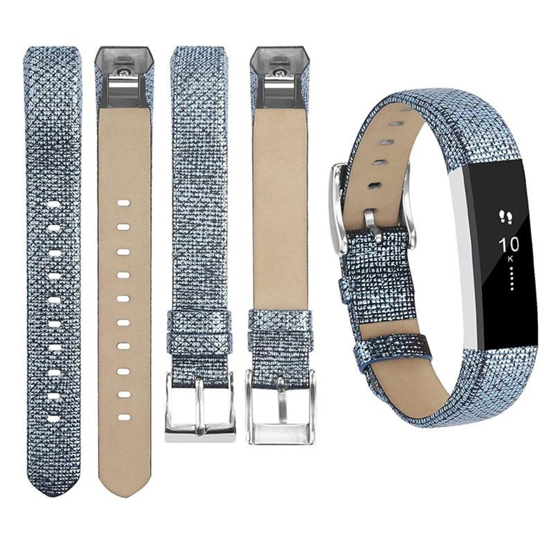 Correa para Fitbit Alta hr Bandje pulsera de cuero para mujer oro rosa pulsera para Fitbit Alta HR reemplazo banda