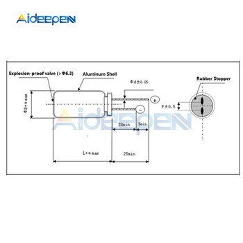 100 Stks/pak 25V 220uF 470uF 1000uF 2200uF 3300uF 10000uF Elektrolytische Aluminium Condensatoren