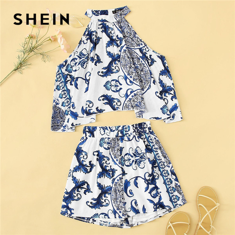 shein-lady-boho-porcelain-print-swing-halter-crop-top-and-shorts-two-piece-set-summer-beach-sexy-matching-sets-women-outfits