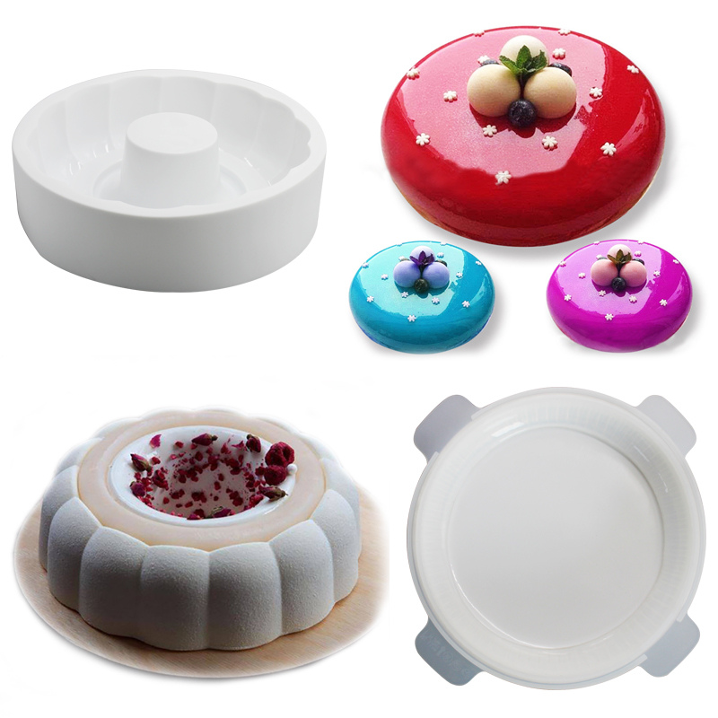 14 different style baking tray silicone Molds Fondant Chocolate Candy Molds Pastry pizza pan mini cheesecake