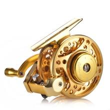 YUYU moulinet de pêche à la mouche entièrement en métal, avec frein automatique, moulinet de poisson sur glace en alliage daluminium, ratio dengrenage de 3.0:1 4 + 1BB