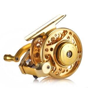 Image 1 - YUYU moulinet de pêche à la mouche entièrement en métal, avec frein automatique, moulinet de poisson sur glace en alliage daluminium, ratio dengrenage de 3.0:1 4 + 1BB