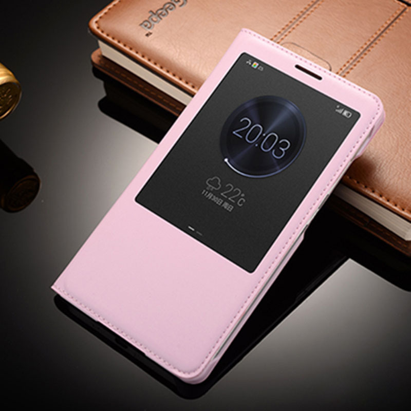 Flip Cover For Huawei Ascend Mate 7 Case Smart Window Flip Leather Phone Cover Fundas Capas For Huawei Mate 7 6.0