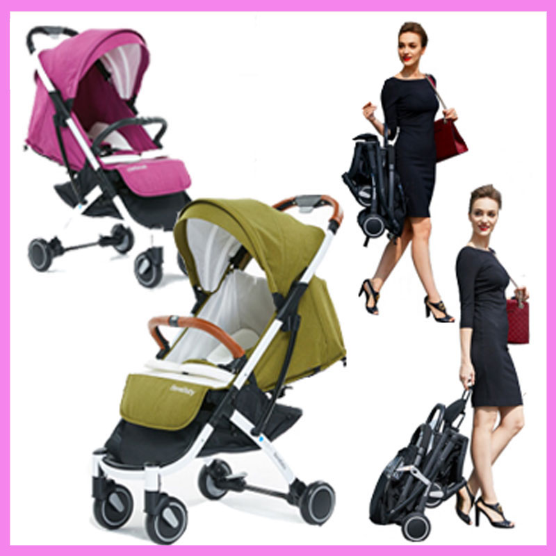 Portable Folding Travel System Airplane Baby Stroller Can Sit Lie Lightweight Baby Artifact Stroller Light Pram Pushchair 0~5 Y babysing high view baby stroller anti shock portable lightweight stroller easy fold pushchair travel system baby strolly