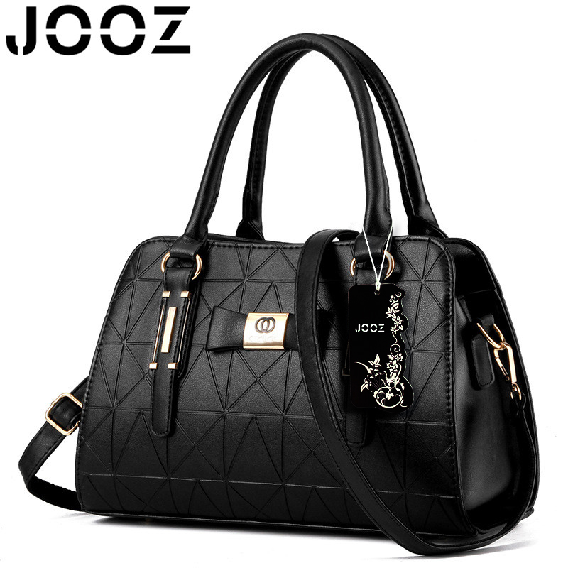 JOOZ Brand New Luxury Women Handbags Lady PU Leather Crossbody Shoulder Messenger Bags Female Boston Bowknot Solid Pattern Bag jooz brand luxury belts solid pu leather women handbag 3 pcs composite bags set female shoulder crossbody bag lady purse clutch