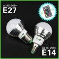 5 Вт RGB LED Лампа E27 220 В Spotlight Лампада СВЕТОДИОДНЫЕ Лампы Bombillas E14 85-265 В Рождество Lanterna СВЕТОДИОДНАЯ Лампа E27 С Пультом Дистанционного Управления управления