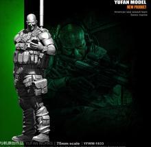 цена на Yufan Model Original 75mm Figure  U.s. Sniper Resin Soldier Model Kit YFWW-1833