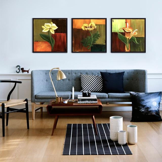 € 8.57 |Art moderne haute qualité fleur peinture contemporain Floral toile  peinture pour salon mur photo pas de cadre dans Peinture et Calligraphie ...