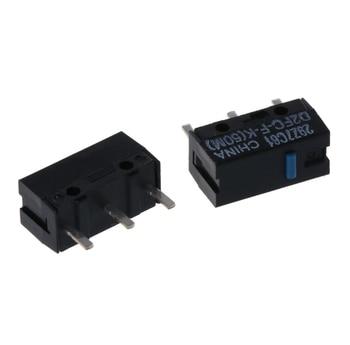 2Pcs Original OMRON D2FC-F-K (50m) Blue Dot Mouse Micro Switch 100% authentic original omron capacitive proximity switch e2k x8me1 2m 12 24vdc