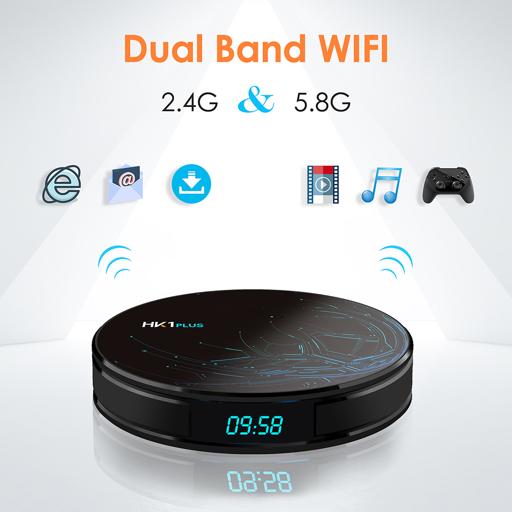 Android Tv Box HK1 Plus Android 8.1 Amlogic S905X2 4G 32G/4G 64G Smart Tv 2.4G/5G Wifi H.265 4 K 1080 P 1000 M lecteur multimédia