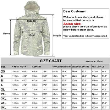 MEGE Men's Military Camouflage Fleece Tactical Jacket Men Waterproof  Softshell Windbreaker Winter Army Hooded Coat Hunt Clothes 5