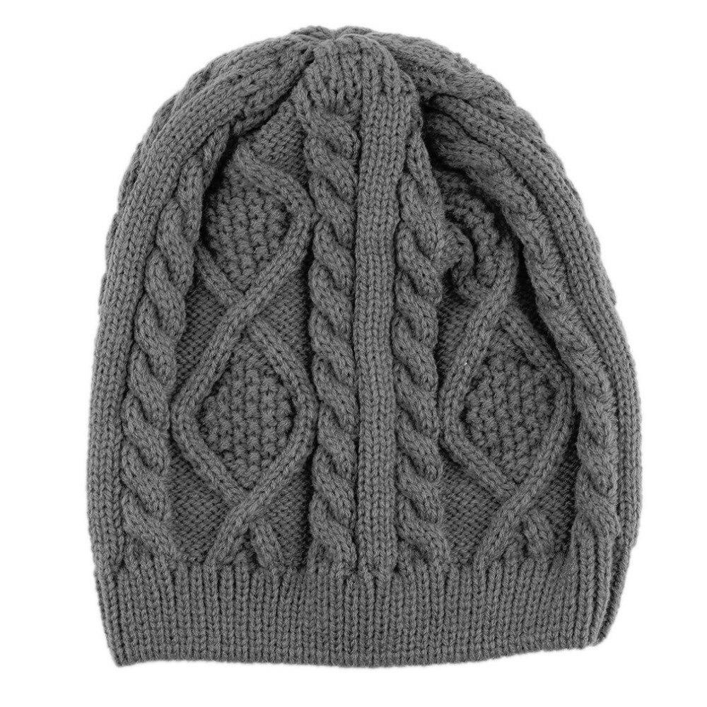 NEW Fashion Unisex Women Men Winter Warm Knitted Crochet Baggy Beanie Hat Cap Hot Sale 2017 winter women beanie skullies men hiphop hats knitted hat baggy crochet cap bonnets femme en laine homme gorros de lana