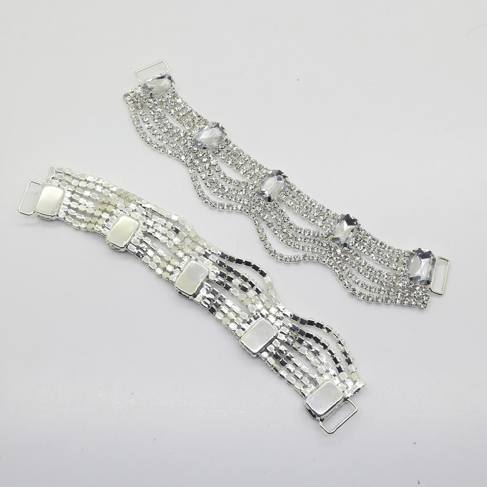 2pcs Full crystal Rhinestone Bikini Connectors buckle/ Hair accessories/ Wedding Wear bridal dress decor