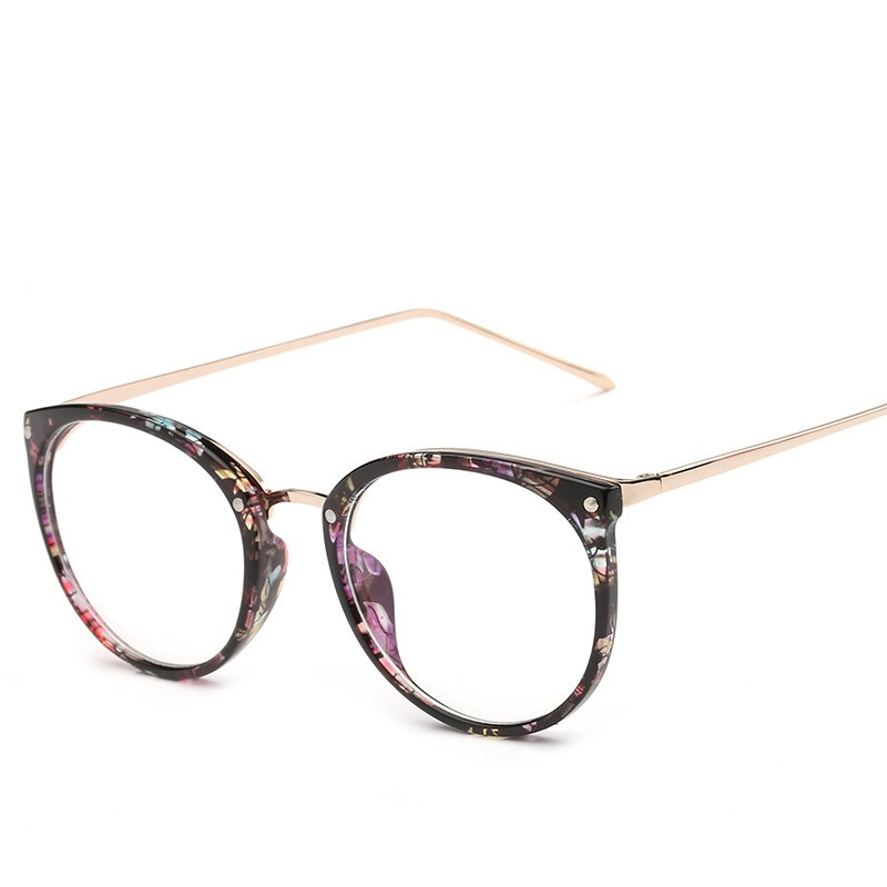SOLO TU Trend Retro Rivet Round Eyewear Frame Quality Leg Men Women ...