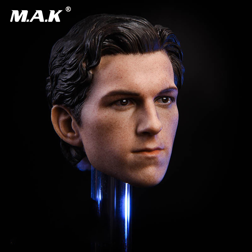 1:6 Male Head Sculpt Spiderman Tom Head Carving Model Toys for 12 inches Action Figure Body 1 6 male head sculpt deadpool ryan reynolds head sculpt figure model for 12 male action figure body