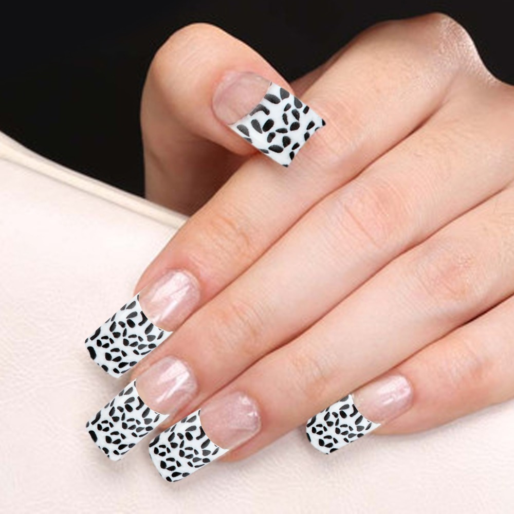 Awesome French Tip Nails Black And White Gift - Nail Art Ideas ...