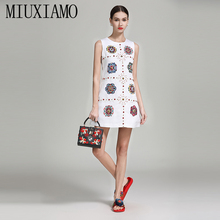MIUXIMAO High Quality 2019 Spring&Summer Luxurious Dress New